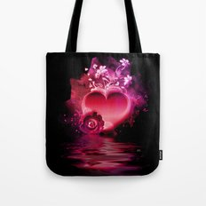 Flooding Heart Tote Bag