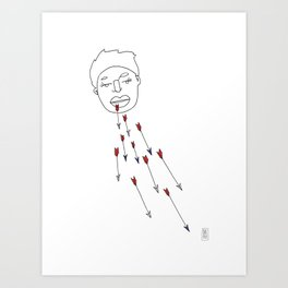 Words Like Arrows Art Print