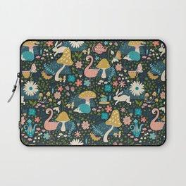 Wondering in Wonderland - Blue + Gold Laptop Sleeve