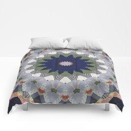 Patchwork Whimsy -- Vintage Block Quilt Mandala Kaleid0scope Comforters