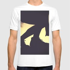 balanced silhouettes  MEDIUM White Mens Fitted Tee