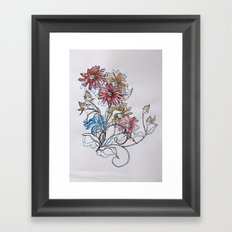 Colour Daisy Framed Art Print