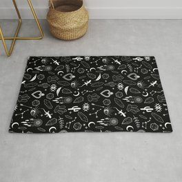 Desert Pattern in Black Rug