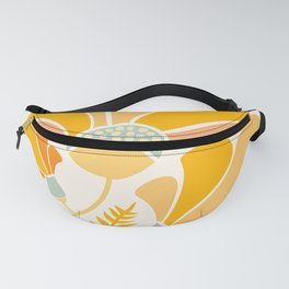 Summer Wildflowers in Golden Yellow Fanny Pack