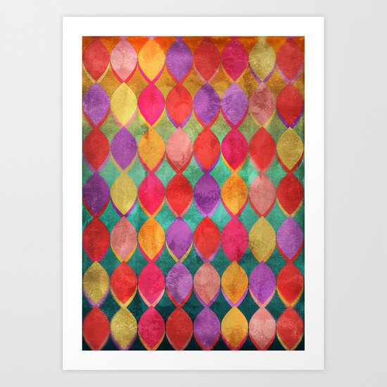 Full Colour Poem Art Print
