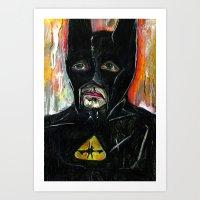 bat Art Prints featuring Bat by C Z A V E L L E