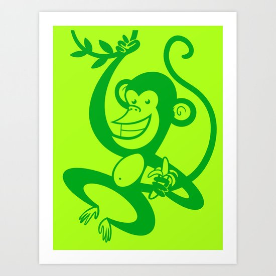 Green Monkey Art Print