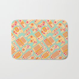 Video Game Controllers in Retro Colors Bath Mat