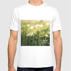 flower Margarita White MEDIUM Mens Fitted Tee