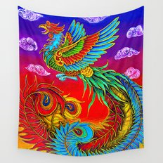 Fenghuang Chinese Phoenix Wall Tapestry