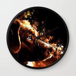 retriever dog ws std Wall Clock