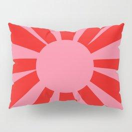 Pink Red Summer Sun Pillow Sham