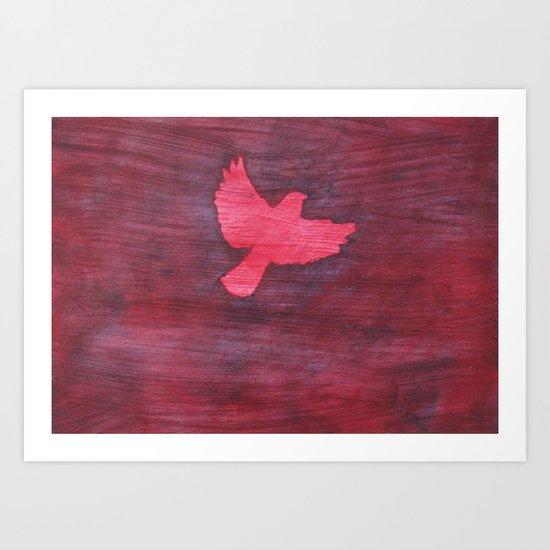 Red Flight Art Print