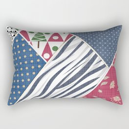 Abstract pattern .Textile patchwork patchwork . Rectangular Pillow