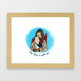 With us. Framed Art Print