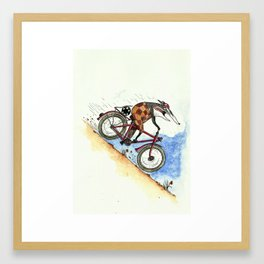 Badger likes going fast Framed Art Print