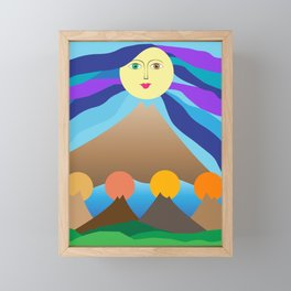 Mother mountain Framed Mini Art Print