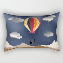 Balloon Aeronautics Rain Rectangular Pillow