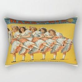 Vintage poster - Hans and Nix Rectangular Pillow