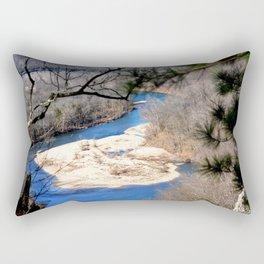 Climbing Up Sparrowhawk Mountain above the Illinois River, No. 6 of 8 Rectangular Pillow