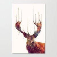 a lot of cats Canvas Prints featuring Red Deer // Stag by Amy Hamilton