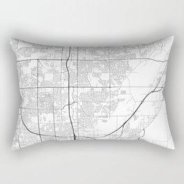Minimal City Maps - Map Of Thornton, Colorado, United States Rectangular Pillow