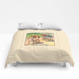 Cyclisme Cyclists Vintage Graphic Cycling Comforters