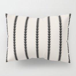 Minimal Triangles - Black & White Pillow Sham