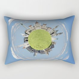 Budapest tiny planet Rectangular Pillow