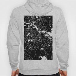 Amsterdam Black on White Street Map Hoody