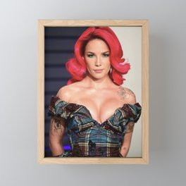 Halsey at Award Show 2 Framed Mini Art Print