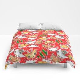 """Oro?"" Christmas Series RED Comforters"