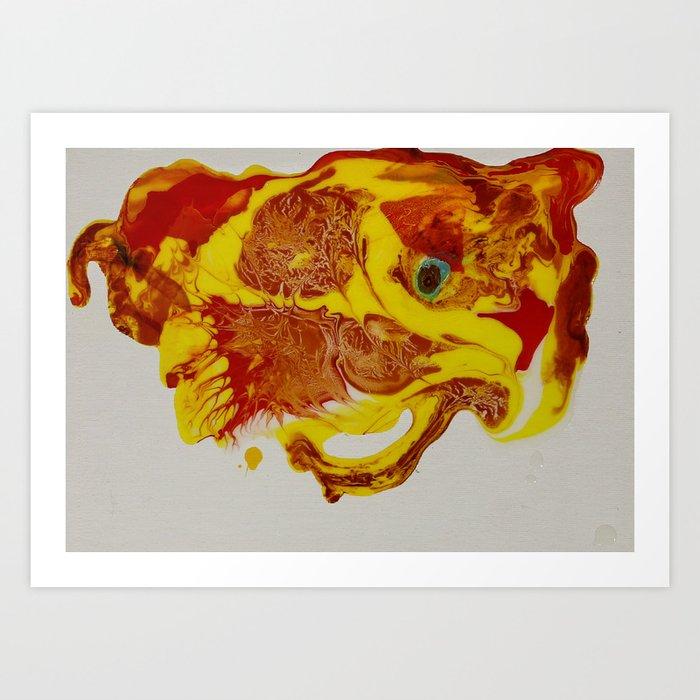 Pyropanther Art Print