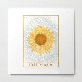 full bloom tarot | sunflower oracle  Metal Print