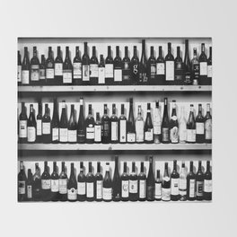 Wine Bottles in Black And White #society6 #decor Throw Blanket