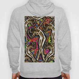 Woman In The Machine Frieze Color 1 Hoody