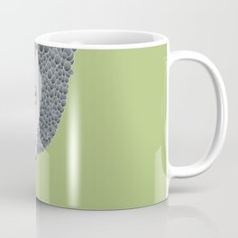 African Grey Parrot [ON MOSS GREEN] Coffee Mug