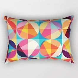 Beautiful colors Geometry, geometric abstract triangles circles squares Rectangular Pillow
