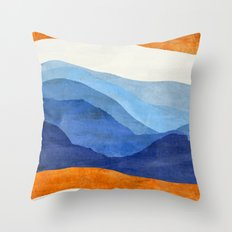 Mountains in the Morning Throw Pillow