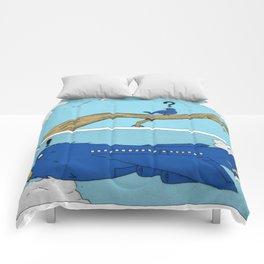 Daydreaming Bird Comforters