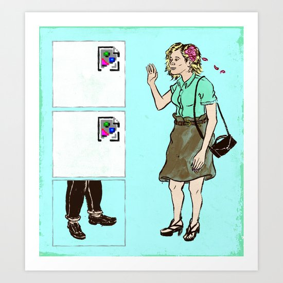 The Trouble with Online Dating Art Print