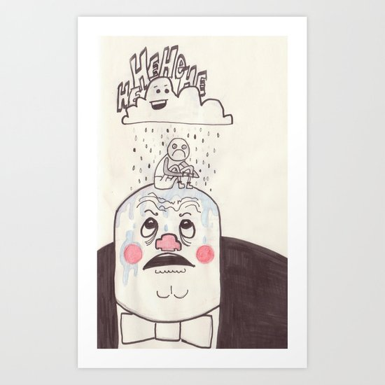 Rainy Day Up There Art Print