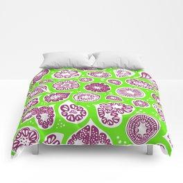 Frutti Purple Green Comforters
