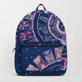 Major Arcana & Wheel of the Zodiac   Pastel Goth Backpack