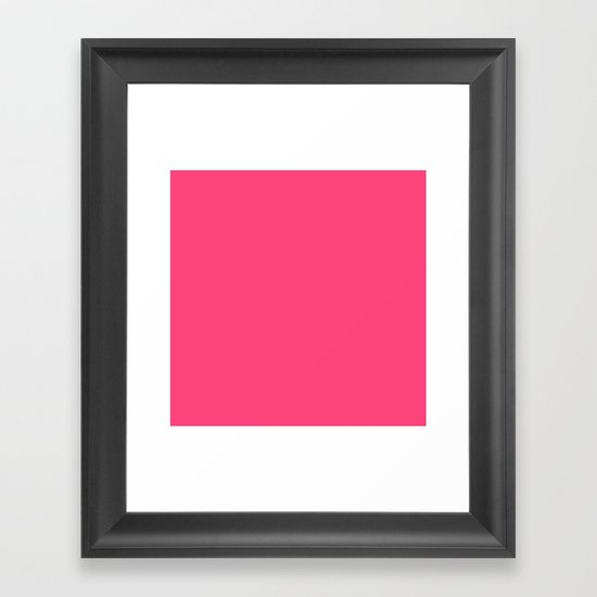 Intensively Pink Framed Art Print