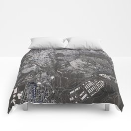 Madrid - city map Comforters