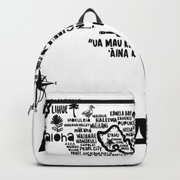 Hawaii Map Backpack