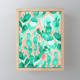 Paddle Cactus Blush Framed Mini Art Print
