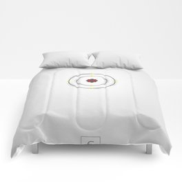 6 Carbon - Atomic Poster Comforters