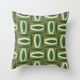 Alcedo - Green Throw Pillow